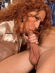 Redhead Mature Demi And The Young Dude