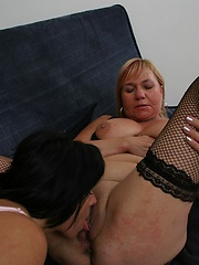 Sexy older mature women give each other oral pleasure!