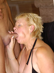Plump assed granny gets nailed!