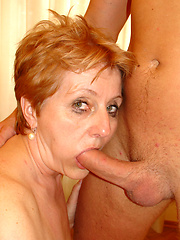 60 year old grandma has her pipes pumped!