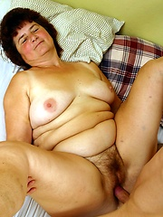 Nasty grandma gets fucked in various positions