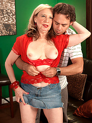 66 yo Miranda makes young dick