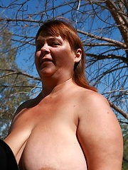 Chubby wife with heavy hangers solo shooting