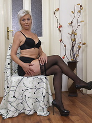 Naughty housewife teasing and pleasing