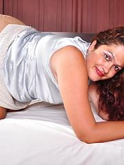 Naughty Latin housewife fooling around
