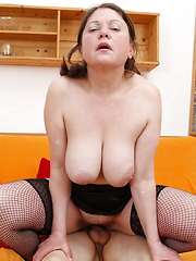This chubby mama loves a hard cock