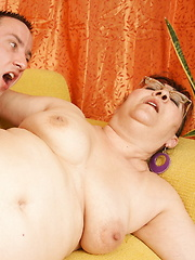 Chubby mama fucking her boy toy