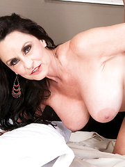 Hot mature Rita Daniels dominates the young guy