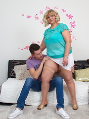 Naughty BBW playing with her toy boy