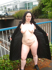 Busty mature flashers happy to expose their body