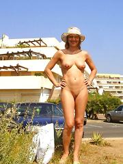 Nice older ladies walking nude in public places