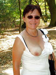 Nice older ladies walking nude in public places