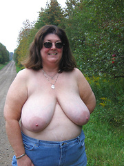 Come and touch tits to each of these busty mature flashers