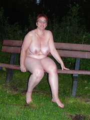 Fat mature women flashing in the night