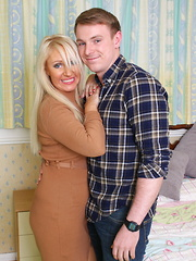 Hot British housewife playing with her younger lover