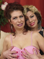 Two naughty housewives getting wet and wild