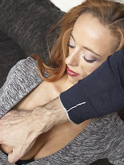 Naughty mom playing with her lover in POV style